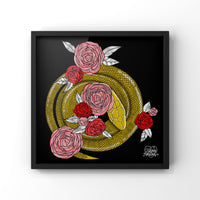 Snakes Among Sweet Flowers - Art Print by Never Forever