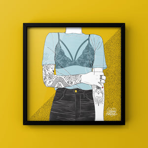 Inked Girl - Art Print by Never Forever