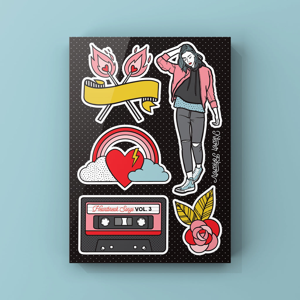 Heartbreak Love - A5 Sticker Sheet