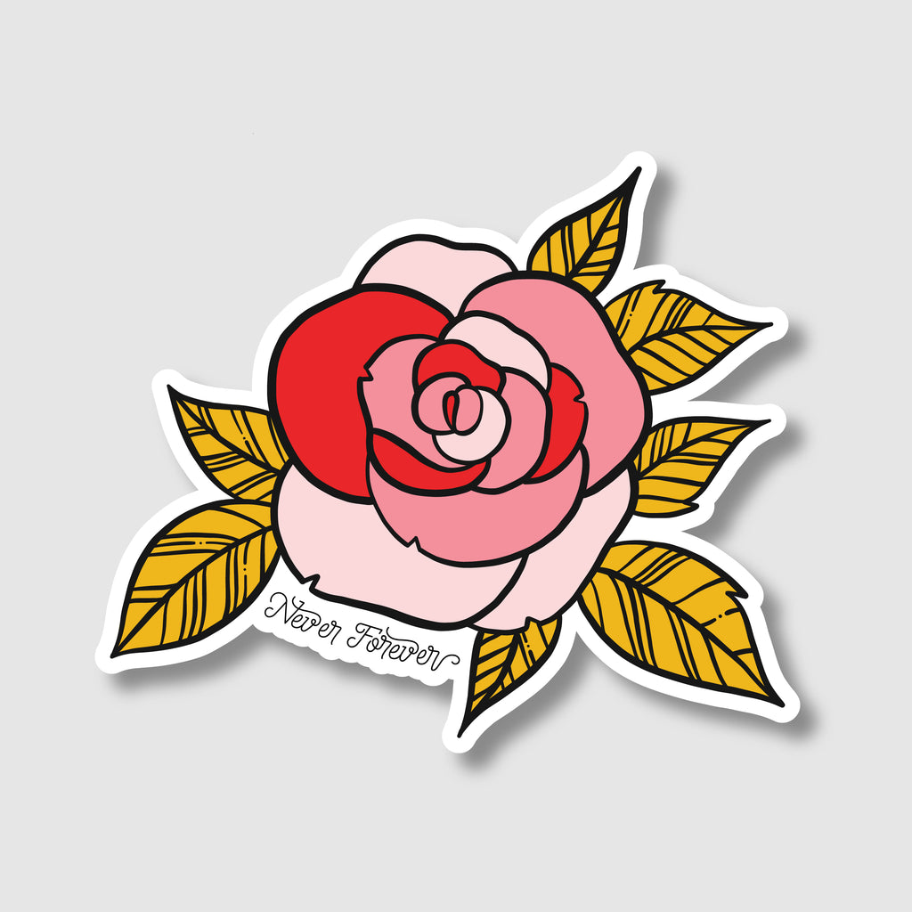 NF Rose Sticker
