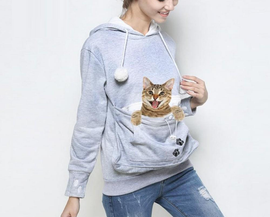 Cat Hoodie With Kangaroo Pouch