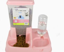Dual Port Pet Automatic Feeder And Water Dispenser