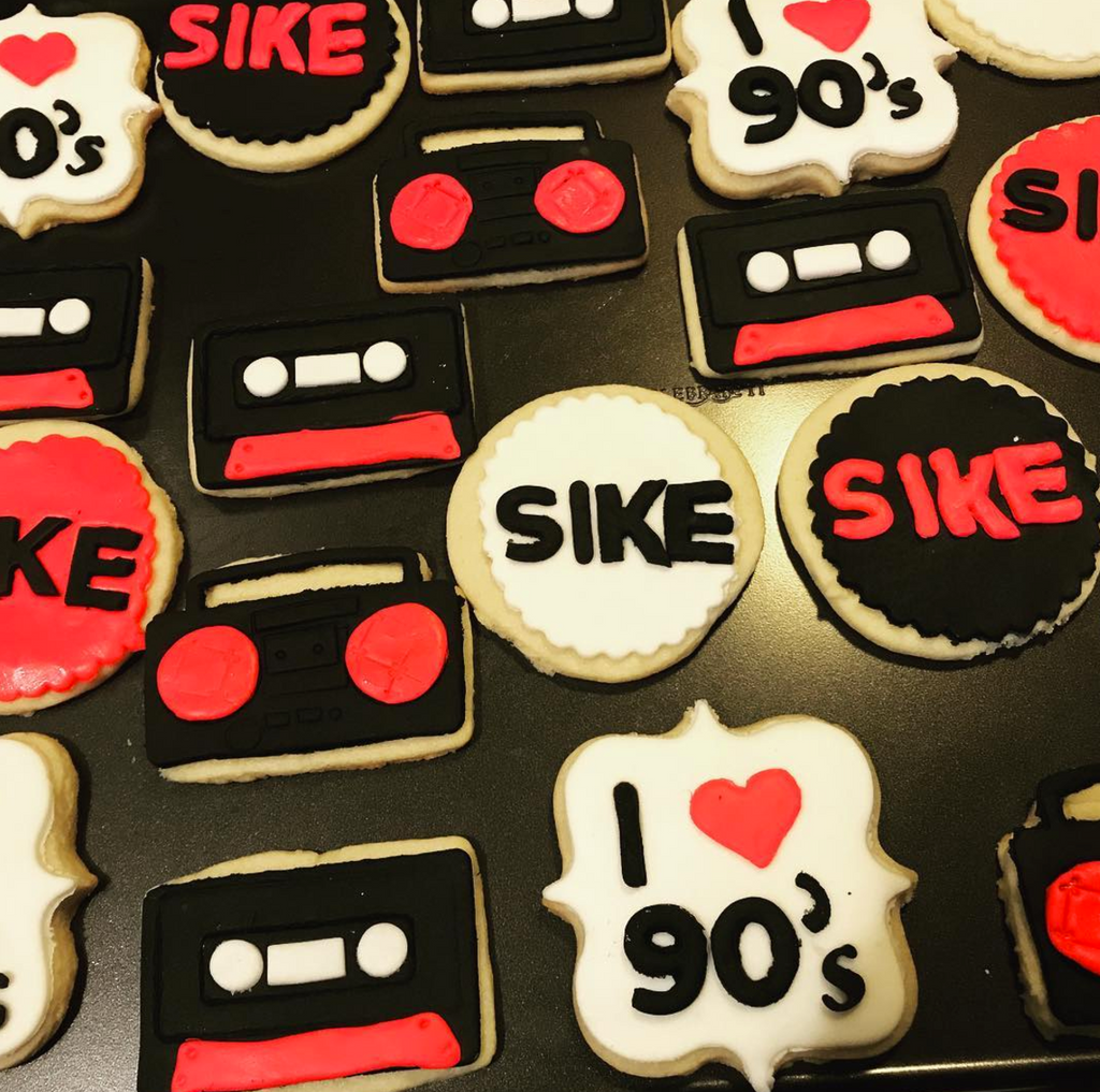 Event Cookies: 90's Theme  (1 dozen)
