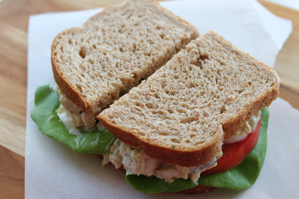 Mock Chick'n Salad Sandwich