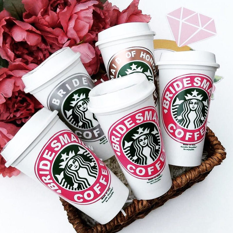 Custom Starbucks Bridal Cups