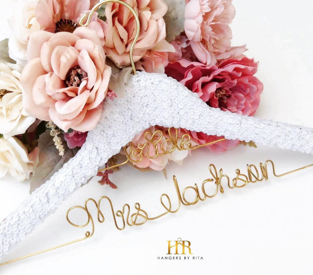 Sequin Bridal Hanger (2-Line)