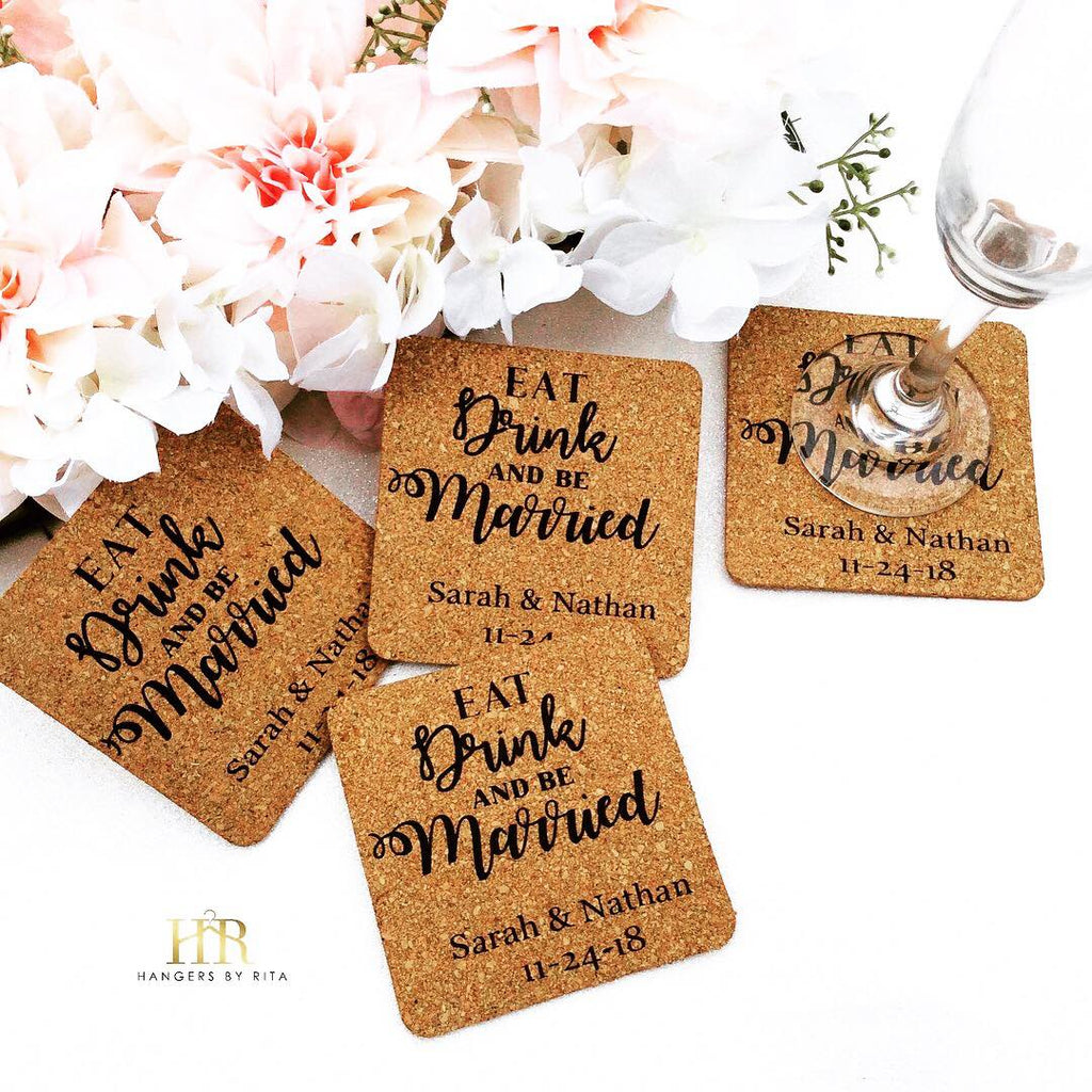 Custom Wedding Coasters