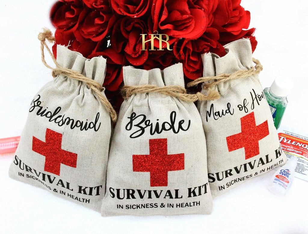 "Bachelorette ""Hangover"" Survival Kit Bags"