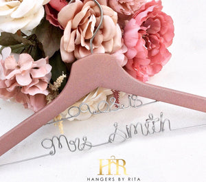 Blush Bridal Hanger