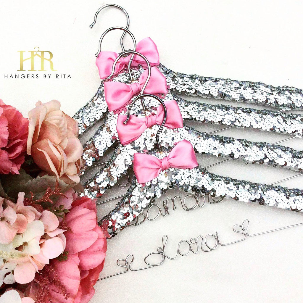 Bridesmaid Sequin Hangers