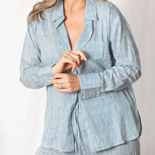 Lazy Cotton Shirt  - Blue Stripe