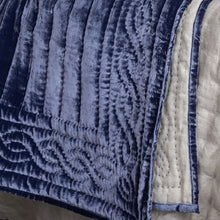 Lux Silk Velvet Throw - French Navy