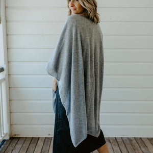 Lux Cashmere Wrap - Pale Grey
