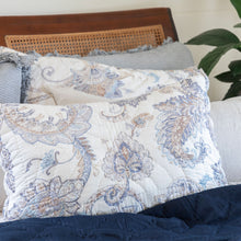 Palm Beach Cotton Pillowcases - Coastal Blue