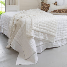 Sublime Linen & Silk Rayon Throw - White