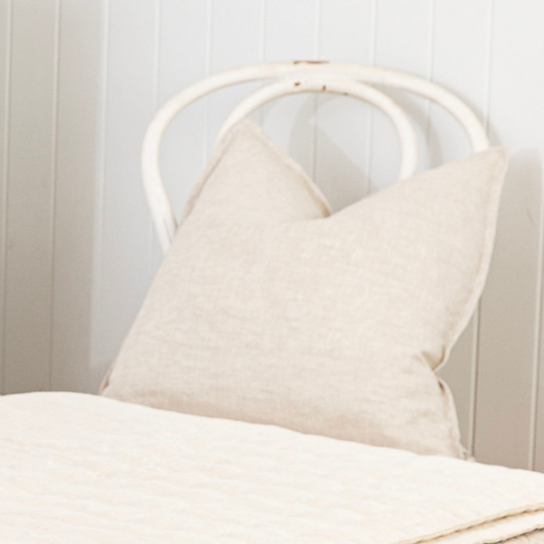 Sorrento Linen Cushion Cover - Natural