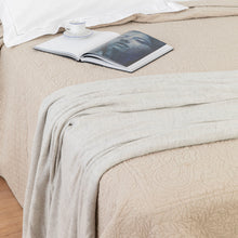 Cashmere Throw & Journal Set - Natural Herringbone