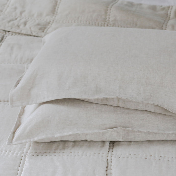 Capri Linen Pillowcases - Natural