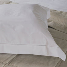 Deluxe Hemstitched Satin Cotton Pillowcases - White