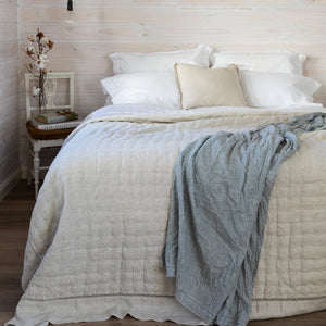 Sublime Linen & Silk Rayon Quilt - Natural