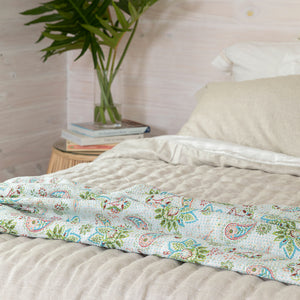 Tropical Cotton Throw Set