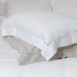 Bask Hemstitched Linen Pillowcases - White