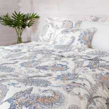 Palm Beach Cotton Quilt Set - Coastal Blue