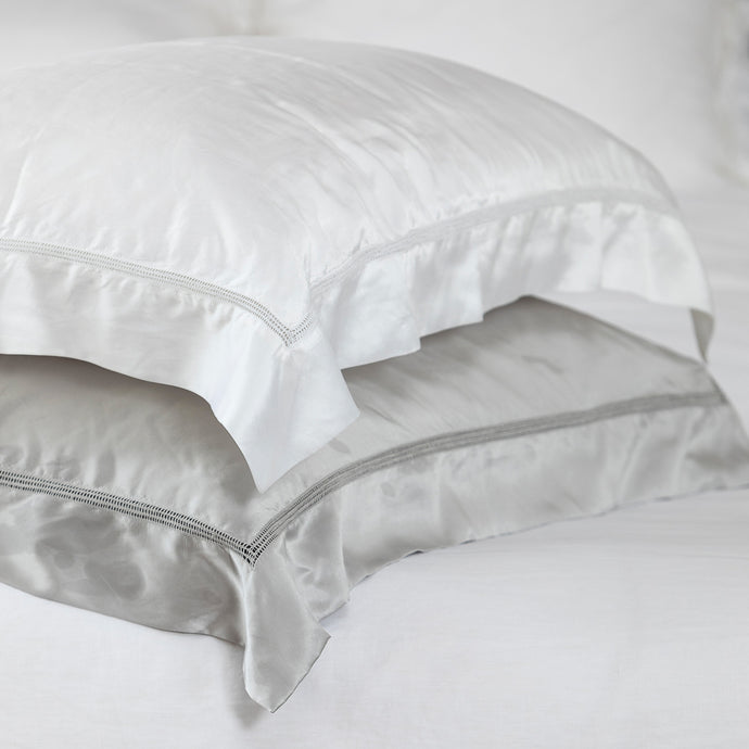 Deluxe Satin Silk Hemstitch Pillowcases