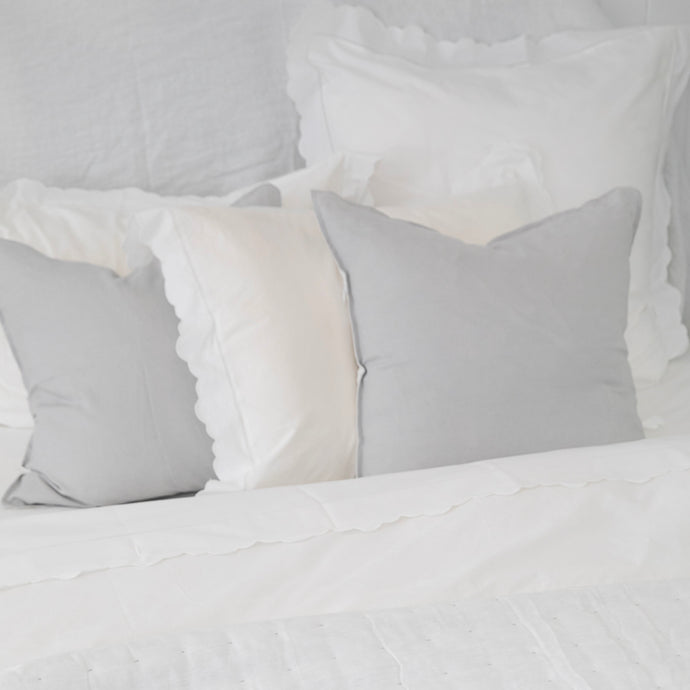 Sorrento Linen Cushion Cover - Pale Grey