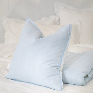 Sorrento Linen Cushion Cover - Seamist Blue