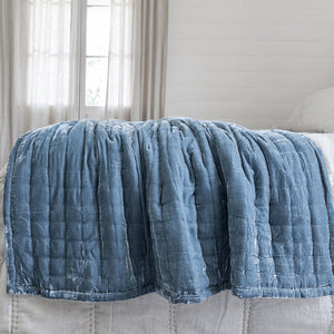 Tempt Silk Velvet Throw - Seafoam
