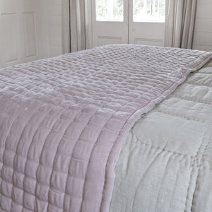 Tempt Silk Velvet Throw - Pale Pink