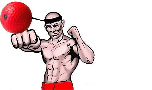 Boxing equipment fight ball speed ball quick response ball punching you can choose the band very easy to tie on your head to train your fast speed response increasing your boxing reaction skills ccuart Choice Image