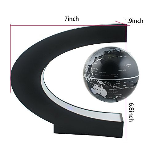 C shape decoration magnetic levitation floating globe world map c shape decoration magnetic levitation floating globe world map gumiabroncs Choice Image