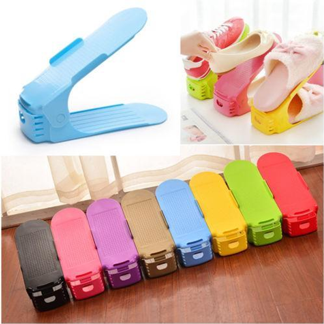 50% OFF TODAY  Double Smart Shoes Organizer Display Rack Space Saving  Storage Rack