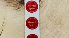 Harvest Spice Bottle Top Label