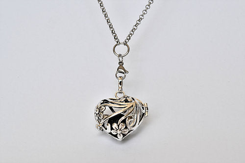 Heart Lava Locket Stainless Steel