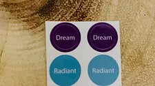 Dream & Radiant Rollerball Bottle Top Labels