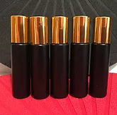 6x Pack 10ml Black THICK Rollerball Bottles