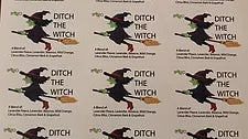 Ditch the Witch 10ml Oil Proof Label set 12x