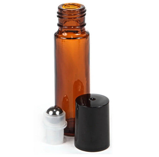 Amber Thick Rollerball Bottle