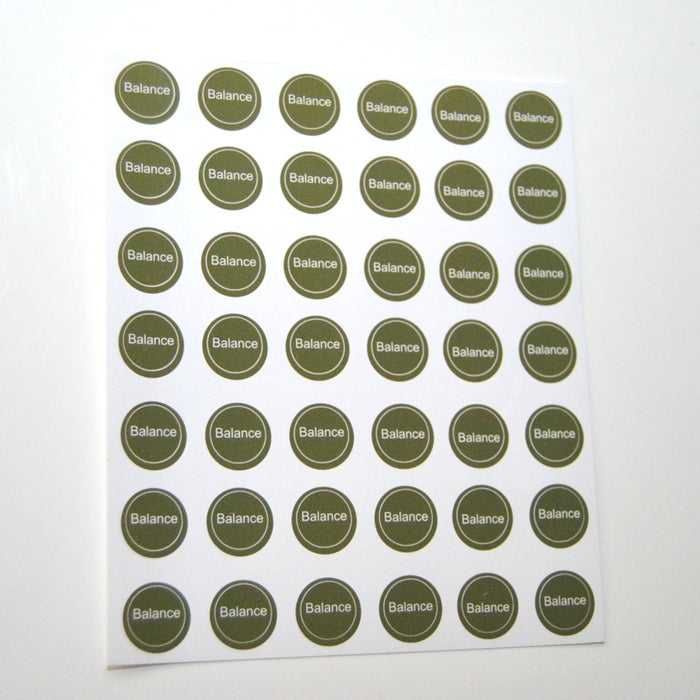 Balance Bottle Top Label Sheet