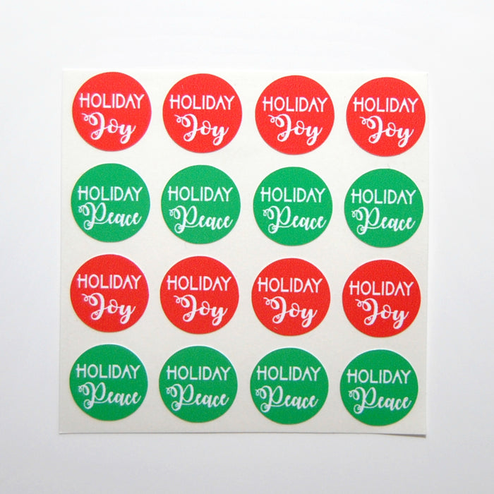 Christmas Bottle Top Labels