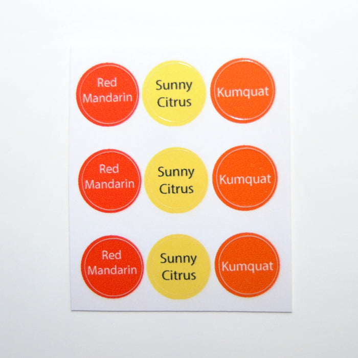 Citrus Trio Bottle Top Label Set (9)