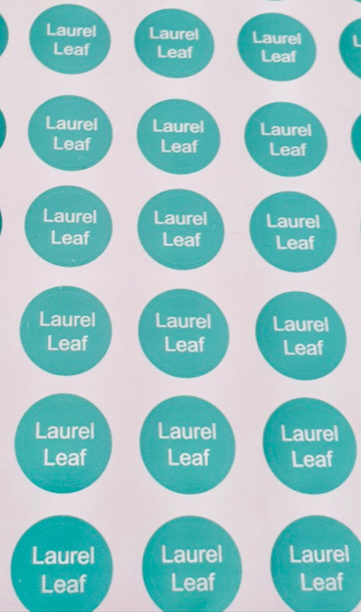 Laurel Leaf Bottle Top Labels