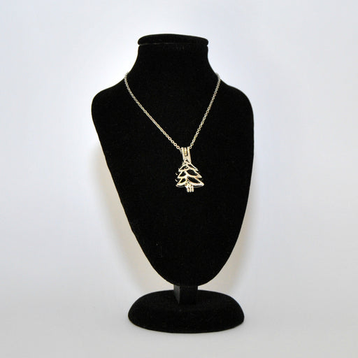 Christmas Tree Diffusing Necklace Stainless Steel