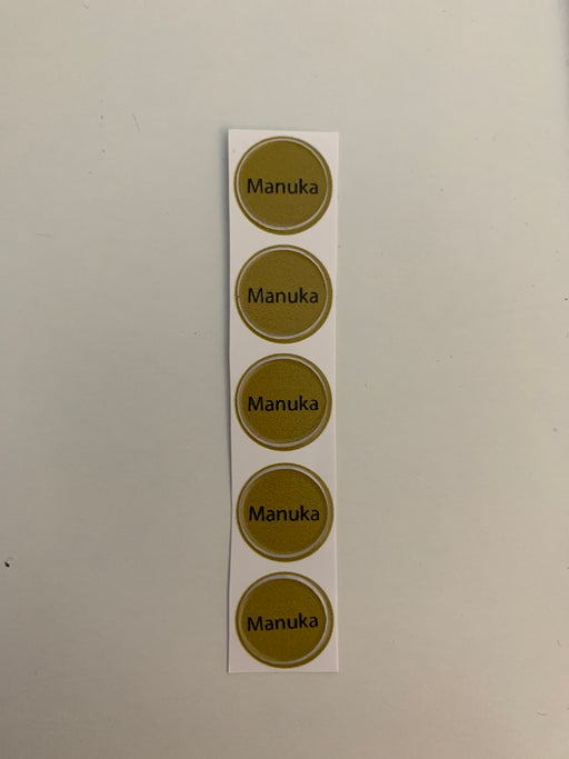 Manuka Bottle Top Label