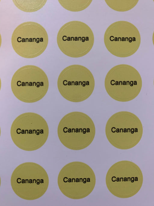 Cananga Bottle Top Labels