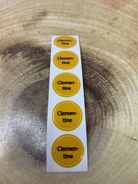 Clementine Bottle Cap Labels