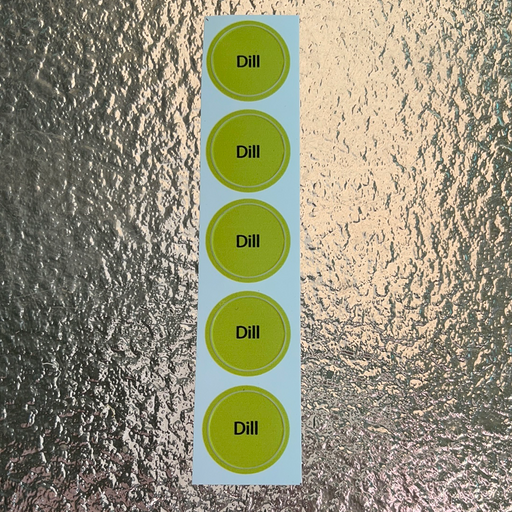 Dill Bottle Cap Labels